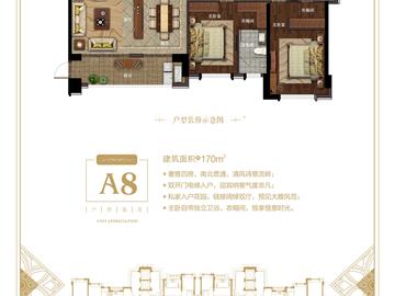 A8 170平方米四房两厅三卫
