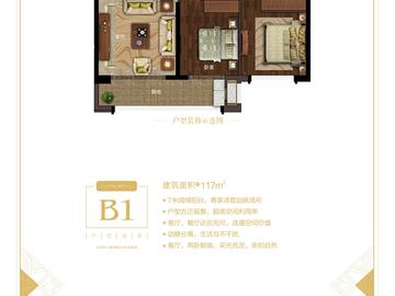 B1 117平方米三房两厅两卫