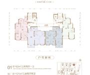 92-121㎡,三房两厅一卫、三房两厅两卫