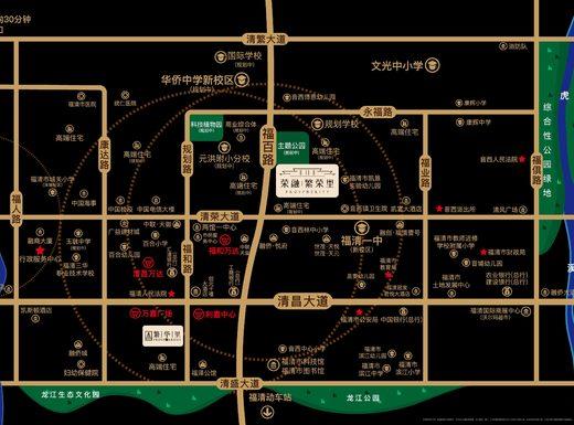 荣融·繁荣里交通图