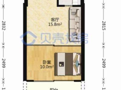 社区 :紫金香山 面积 :46平 价格 :68万 装修 :全新装修未入住
